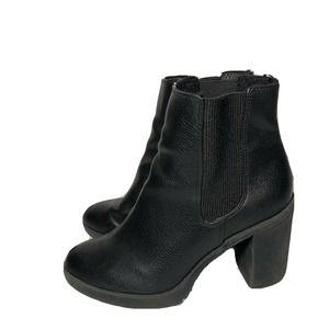black chunky heel booties H&M Women's  38